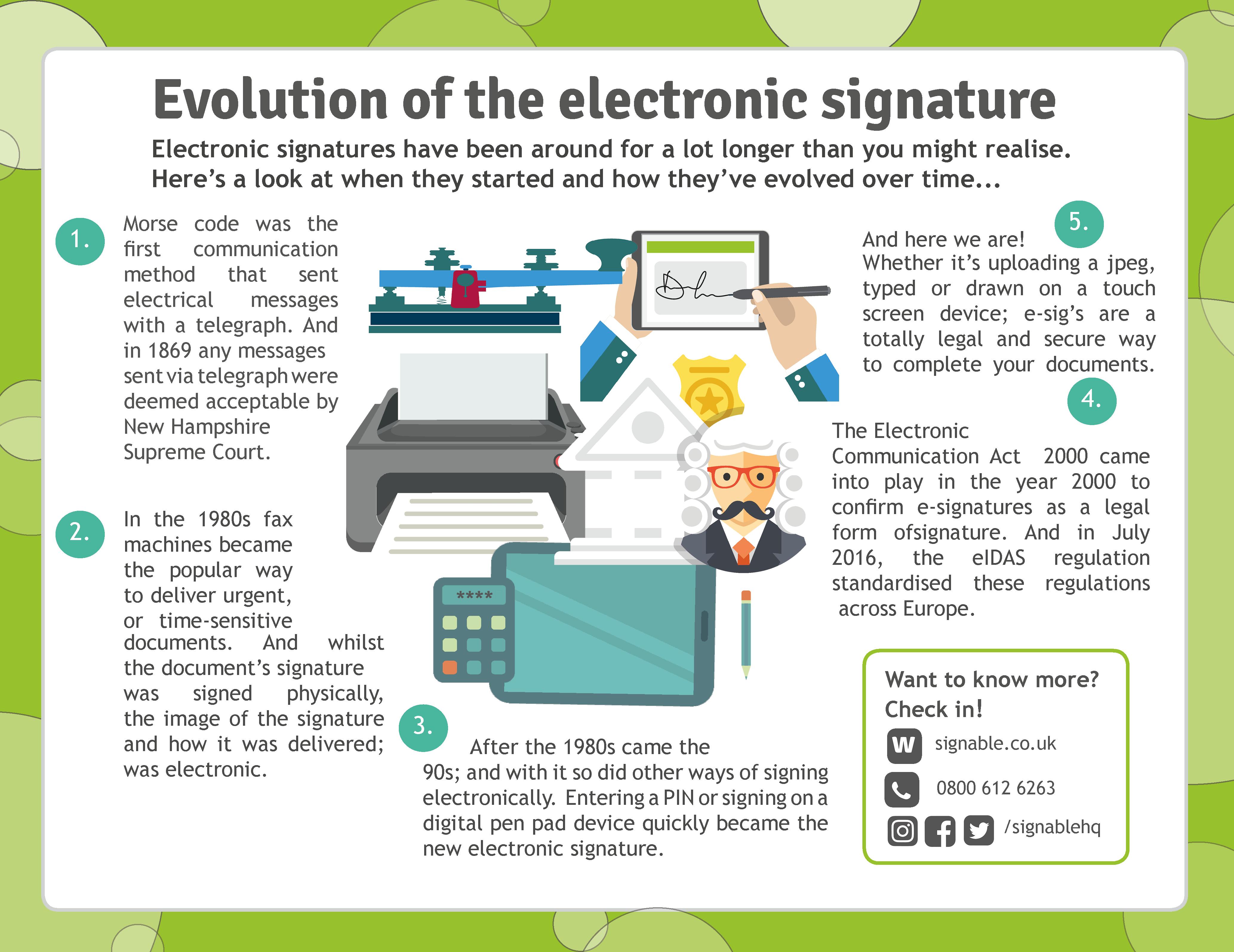 evolution of signatures