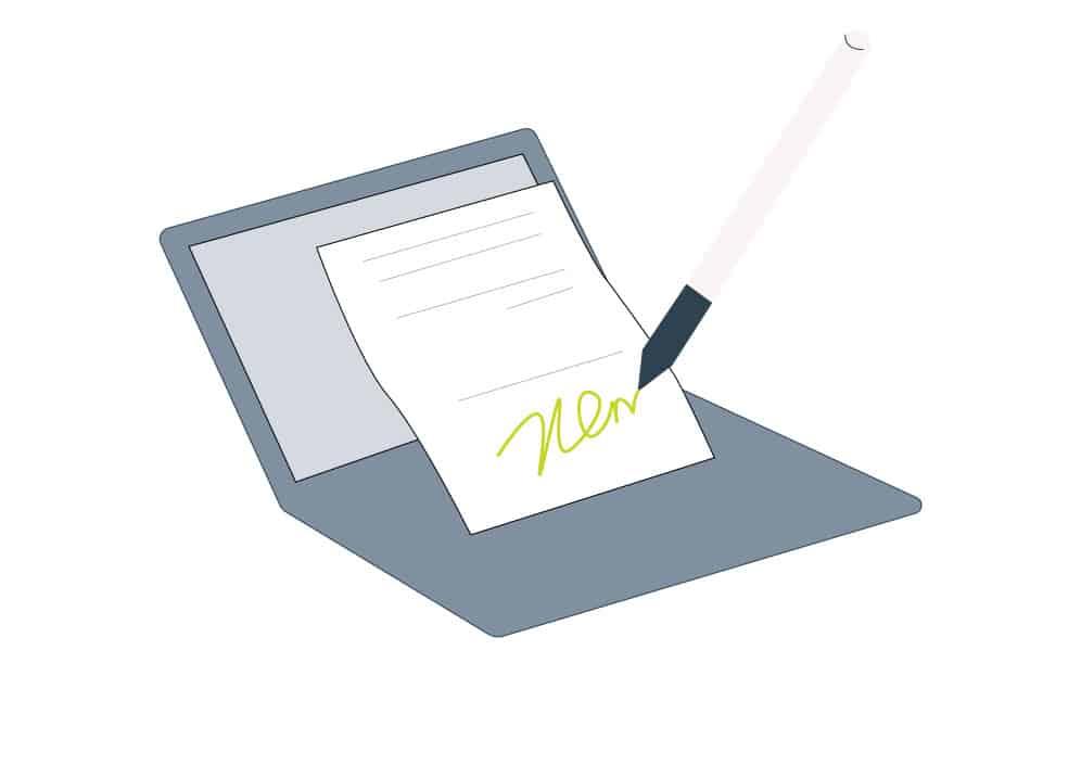 How do I digitally sign a pdf