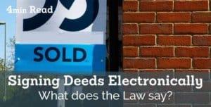 electronic signature deed